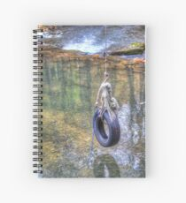 Tire swing Spiral Notebook