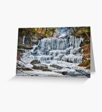 Melting waterfall Greeting Card