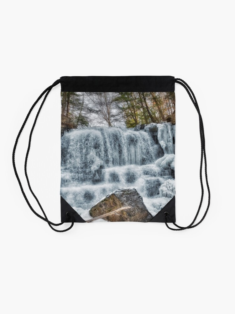 Alternate view of Melting waterfall Drawstring Bag