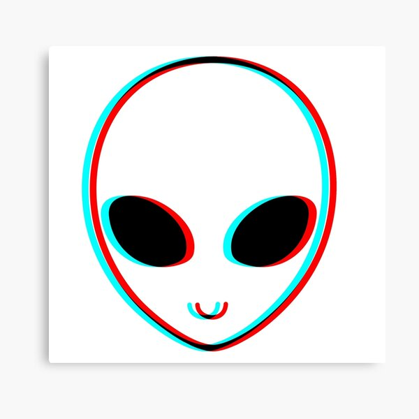 Trippy Alien Canvas Print