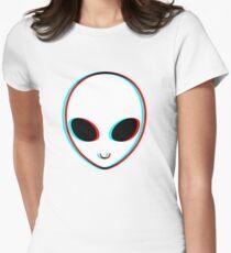 Trippy Alien Women's Fitted T-Shirt