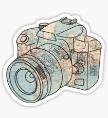Um die Welt reisen Sticker