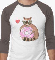 Raccoon Loves Giant Donut T-Shirt