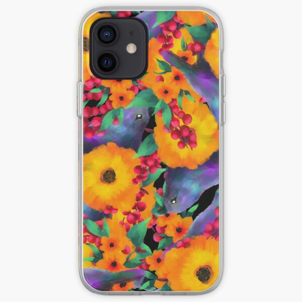 Birds of flowers iPhone Soft Case