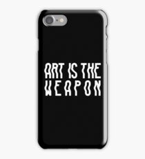 White Wavy Text (Black) iPhone Case/Skin
