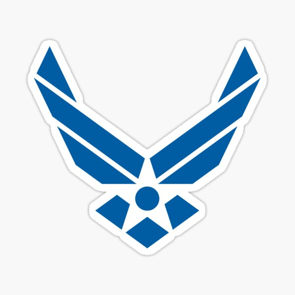 U.S. Air Force Logo Blue Sticker