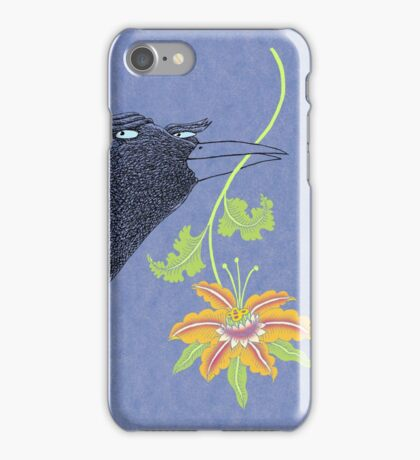 Lovebirds with flower courtship iPhone Case/Skin