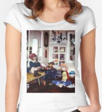 Haruko & Mamimi (Flcl) Women's Fitted Scoop T-Shirt