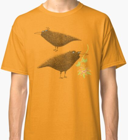 Lovebirds with flower courtship Classic T-Shirt
