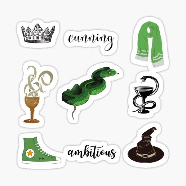 Cunning and Ambitious Snake Sticker Pack Sticker