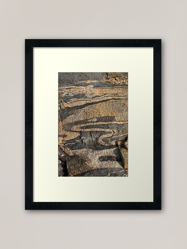 Alternate view of Rock Patterns at The Gap WA Framed Art Print