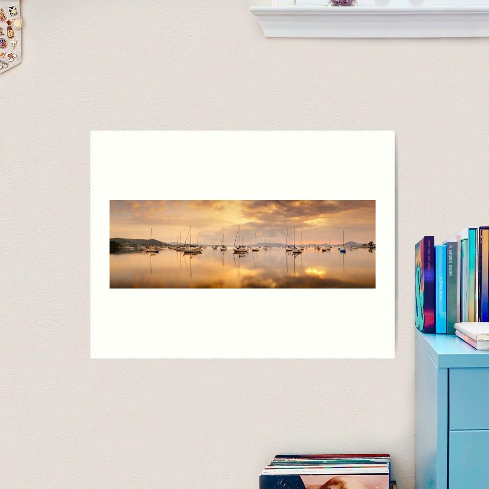 Koolewong Boats, New South Wales, Australia Art Print