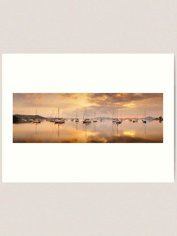 Alternate view of Koolewong Boats, New South Wales, Australia Art Print