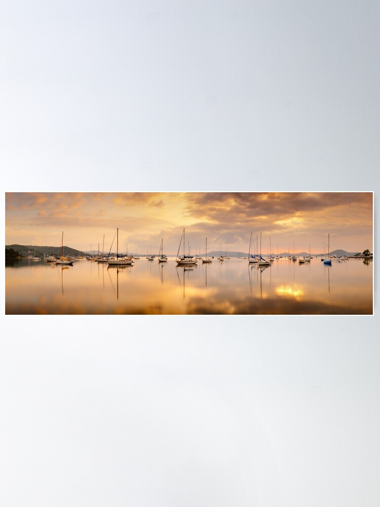 Alternate view of Koolewong Boats, New South Wales, Australia Poster