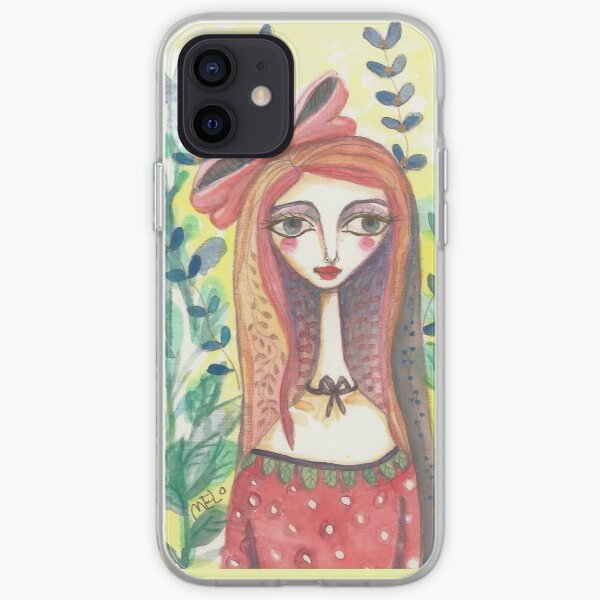 Girl in Polkadot Dress iPhone Soft Case