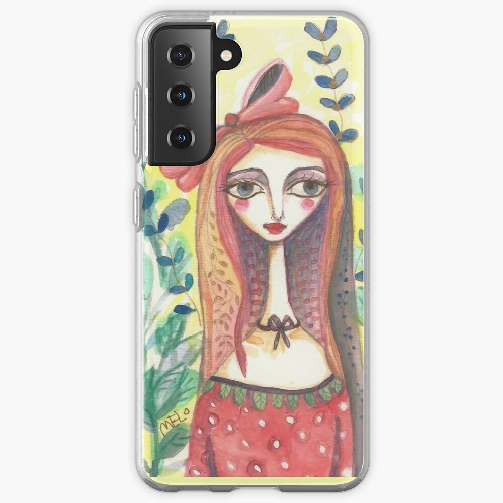 Girl in Polkadot Dress Case & Skin for Samsung Galaxy