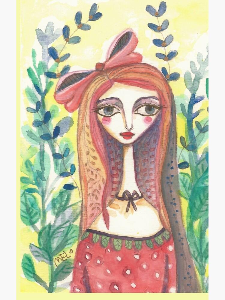 Girl in Polkadot Dress by meloearth