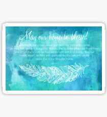 A Home Blessing Sticker