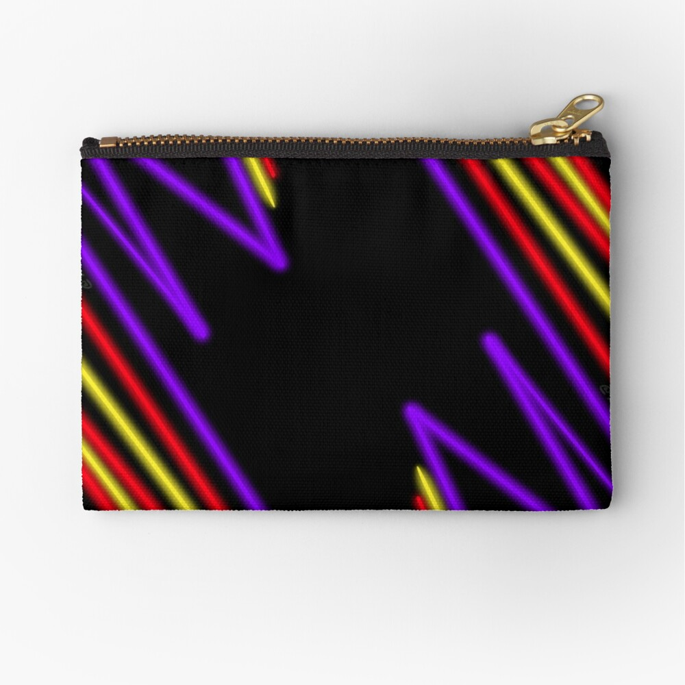 Neon Gamer Road Zipper Pouch