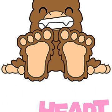 Big Feet Big Heart by Cryptidbits1980