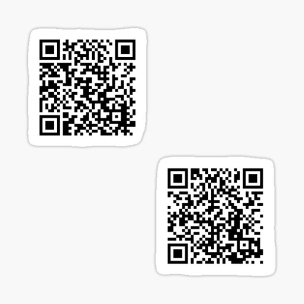 tommyinnit jump in the cadillac and wilbur soot your new boyfriend qr codes two pack Sticker