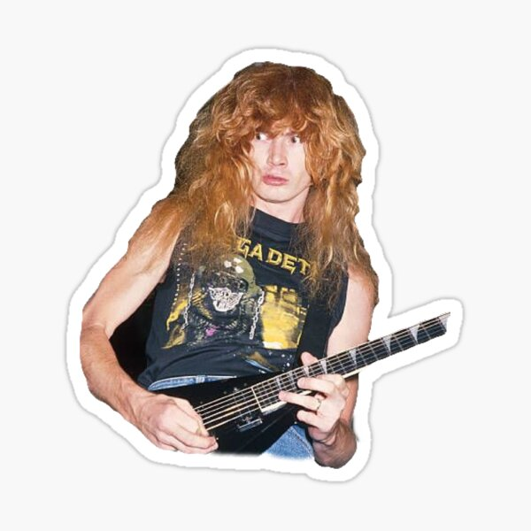 Dave Mustaine drôle Sticker