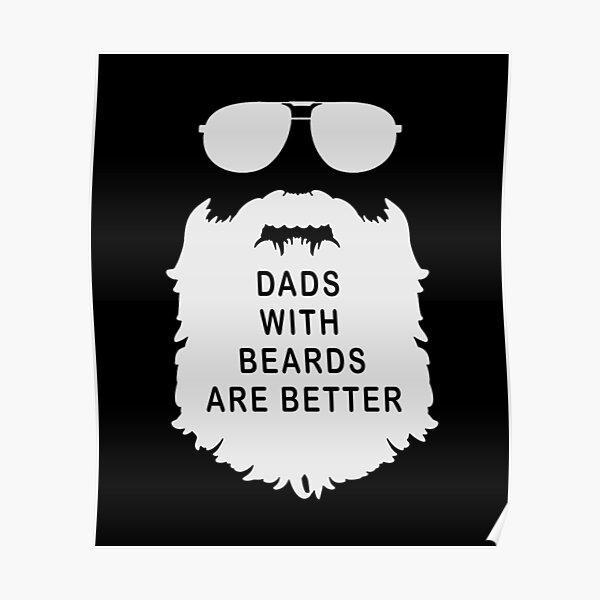 Joyeuse Fête Des Pères Papa Meilleur Papa barbe barbu drôle Noir Blanc Blanc 6*6 pouces