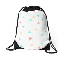 80s Triangles Drawstring Bag
