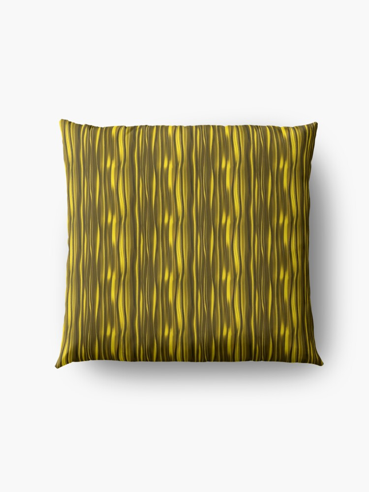 Alternate view of Black & yellow gold on Floor Pillow