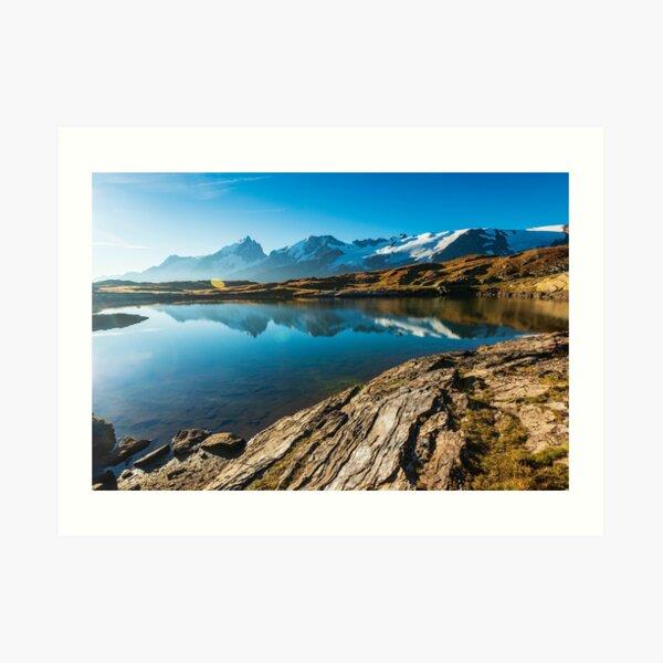 Lac Noir et le massif de la Meije Impression artistique
