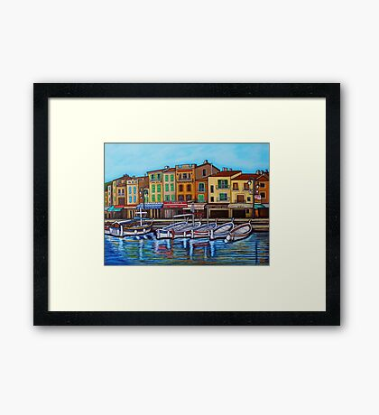 Colours of Cassis Framed Print