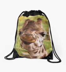 Hilarious Giraffe - Nature Photography Drawstring Bag