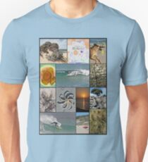 Collage Surf Tee Design Margaret River Western Australia Unisex T-Shirt