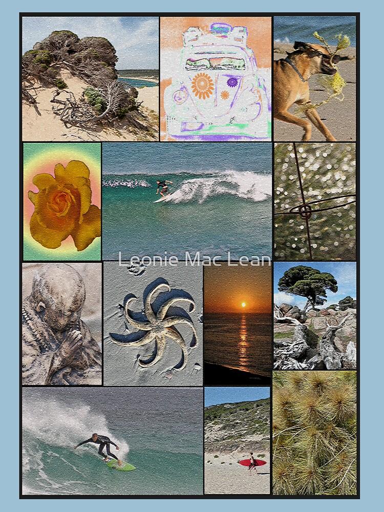 Collage Surf Tee Design Margaret River Western Australia by yallmia