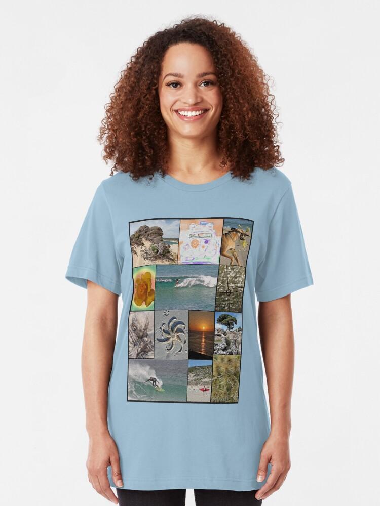 Alternate view of Collage Surf Tee Design Margaret River Western Australia Slim Fit T-Shirt