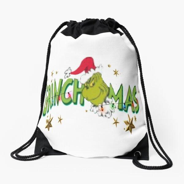 Grinchimas Drawstring Bag