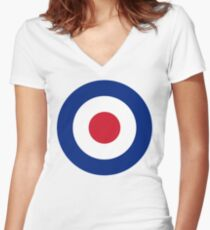 RAF Roundel Women's Fitted V-Neck T-Shirt