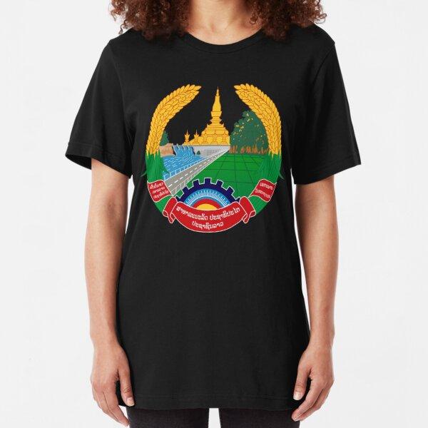 Emblem of Laos Slim Fit T-Shirt