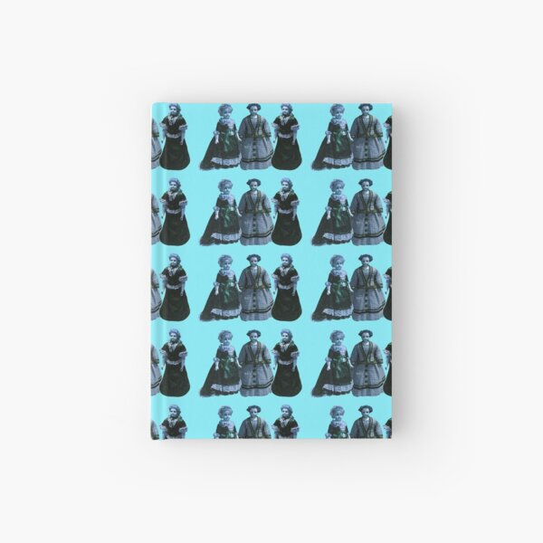 Turquoise victorian dolls Hardcover Journal