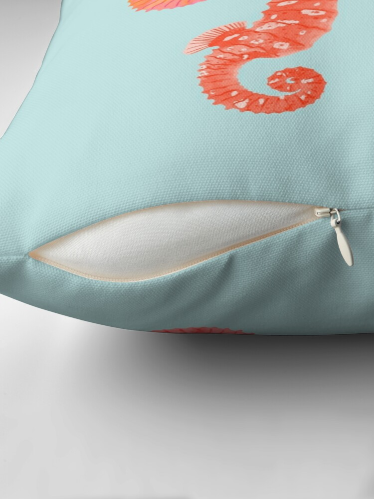 Alternate view of Seahorses Throw Pillow