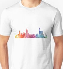 New York Colourful Skyline 2 Unisex T-Shirt