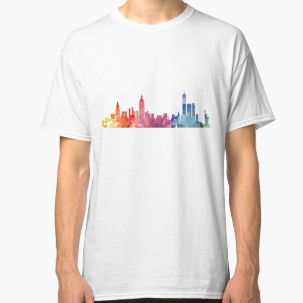 New York Colourful Skyline 2 Classic T-Shirt