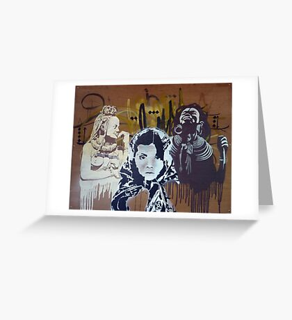 Iranian Gipsy meets African Queens Greeting Card