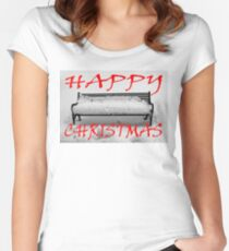 HAPPY CHRISTMAS 6 Women's Fitted Scoop T-Shirt