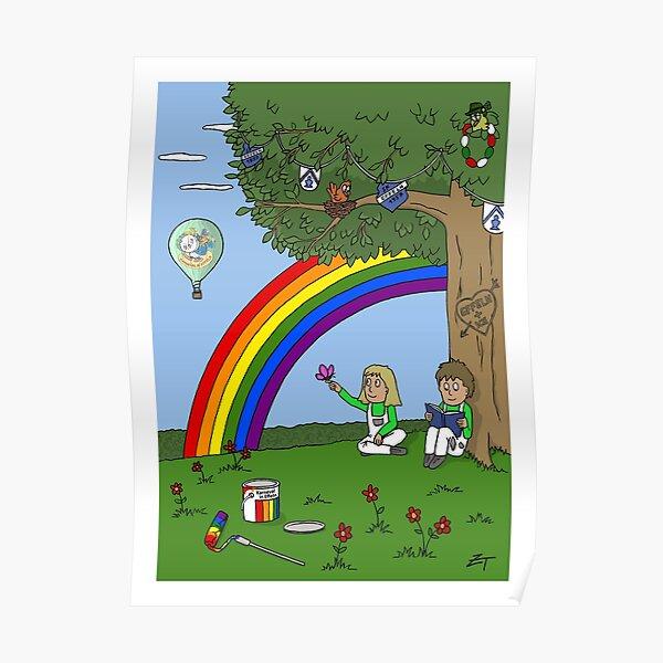 Zeichenteufel - Regenbogen in Effeln Poster