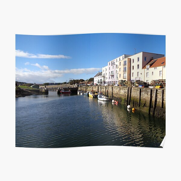 St Andrews Harbour Scotland (1) Poster