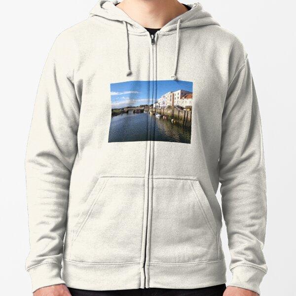 St Andrews Harbour Scotland (1) Zipped Hoodie