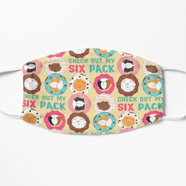 Funny Guinea Pig Donut Six Pack Flat Mask