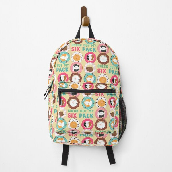 Funny Guinea Pig Donut Six Pack Backpack