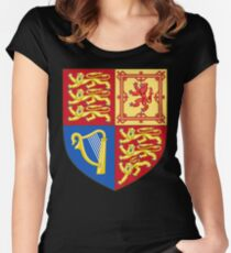 Arms of the United Kingdom Women's Fitted Scoop T-Shirt